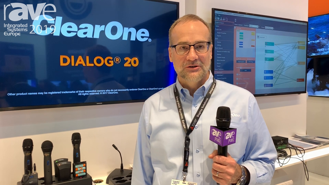 ISE 2019: ClearOne Showcases Its Wireless Microphone Systems