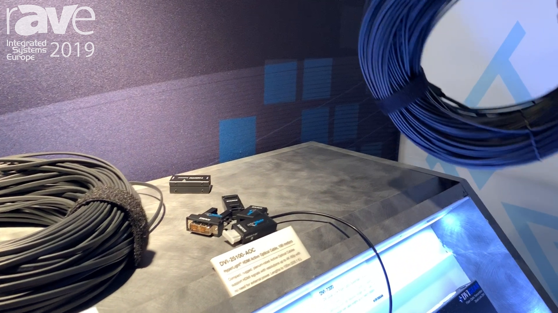 ISE 2019: DVIGear Features Its HDMI HyperLight Active Optical Cable and Accessories
