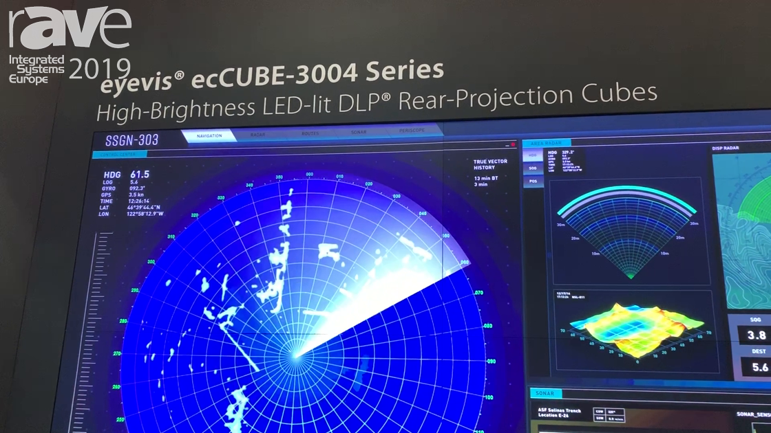 ISE 2019: Leyard Demos the eyevis ecCube-3004 Series of LED DLP Rear-Projection Cubes