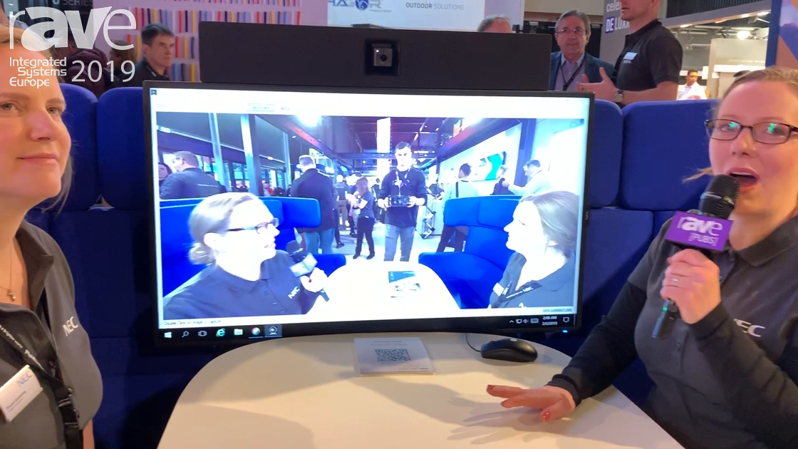 ISE 2019: NEC Showcases the C-Series Huddle Space Display with Collaboration Soundbar