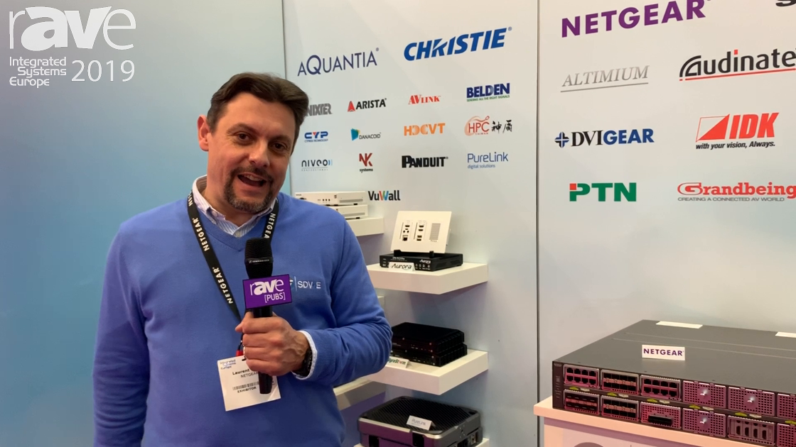 ISE 2019: Netgear Shows the M4300-96X Managed Switch on the SDVoE Alliance Stand