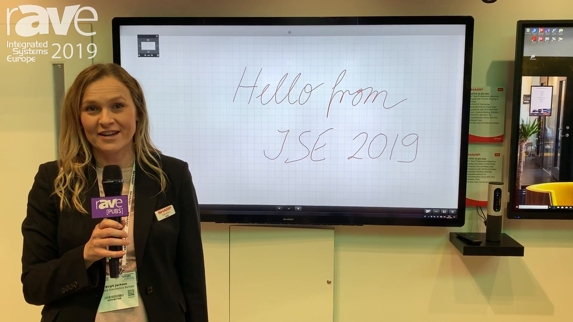 ISE 2019: Sharp Demos Its New 4K BIG PADs