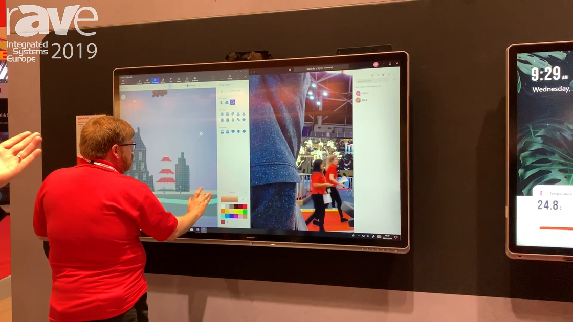 ISE 2019: Sharp Demos Its WCD Windows Collaboration Display Solutions