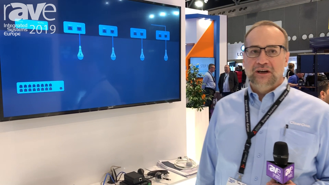 ISE 2019: ClearOne Features Its Ceiling Microphone Array Analog-X, a Tri-Element Ceiling Mic Array