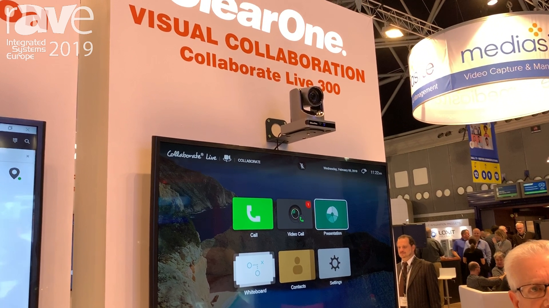 ISE 2019: ClearOne Showcases Its Collaborate Live Video Conferencing Equipment