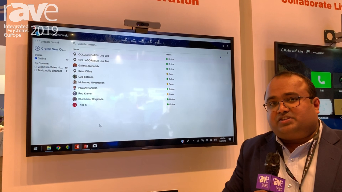 ISE 2019: ClearOne Demos Its Collaboration Space Cloud Platform