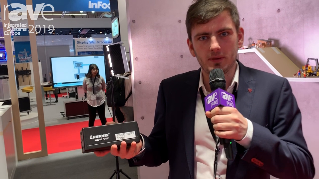 ISE 2019: Lumens Features the VC701 4K60 30x Optical Zoom IP Block Camera