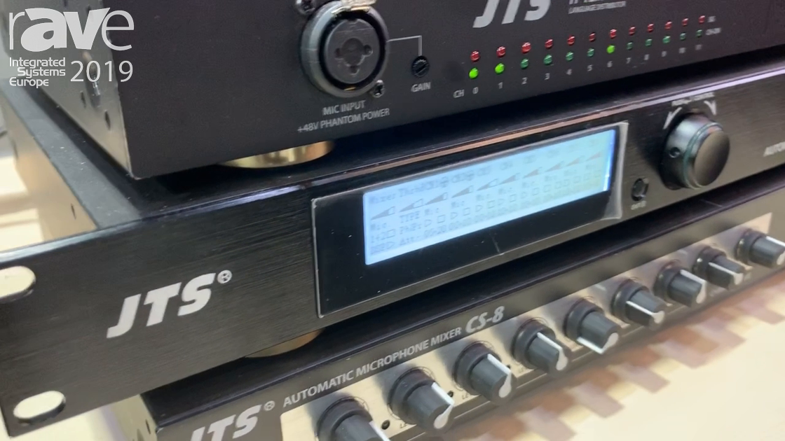 ISE 2019: JTS Exhibits CS-8D Eight-Channel Automatic Microphone Mixer