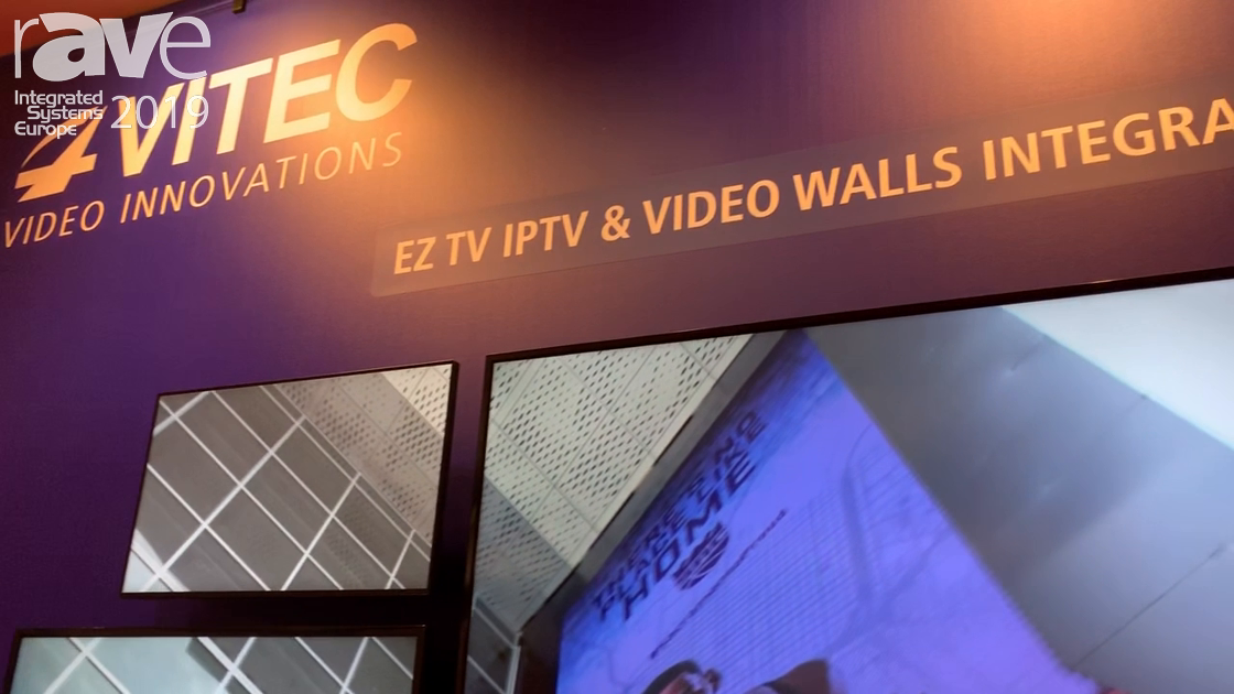 ISE 2019: VITEC Demos EZ TV IPTV and Video Wall Solution Integration