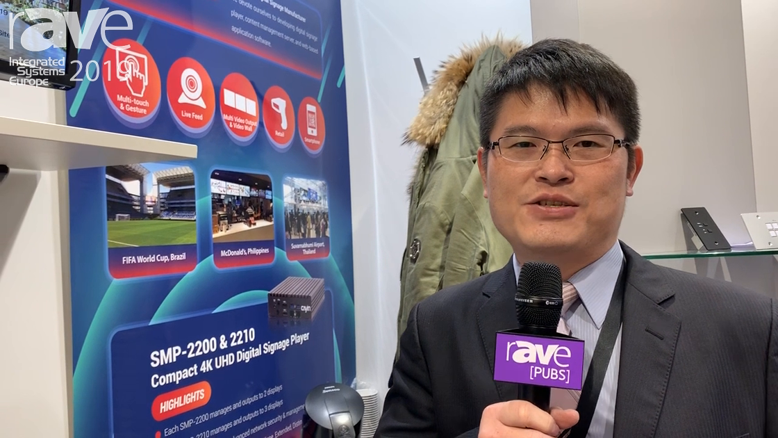 ISE 2019: Cayin Technology Demos SMP-2200 Compact UHD Digital Signage Player