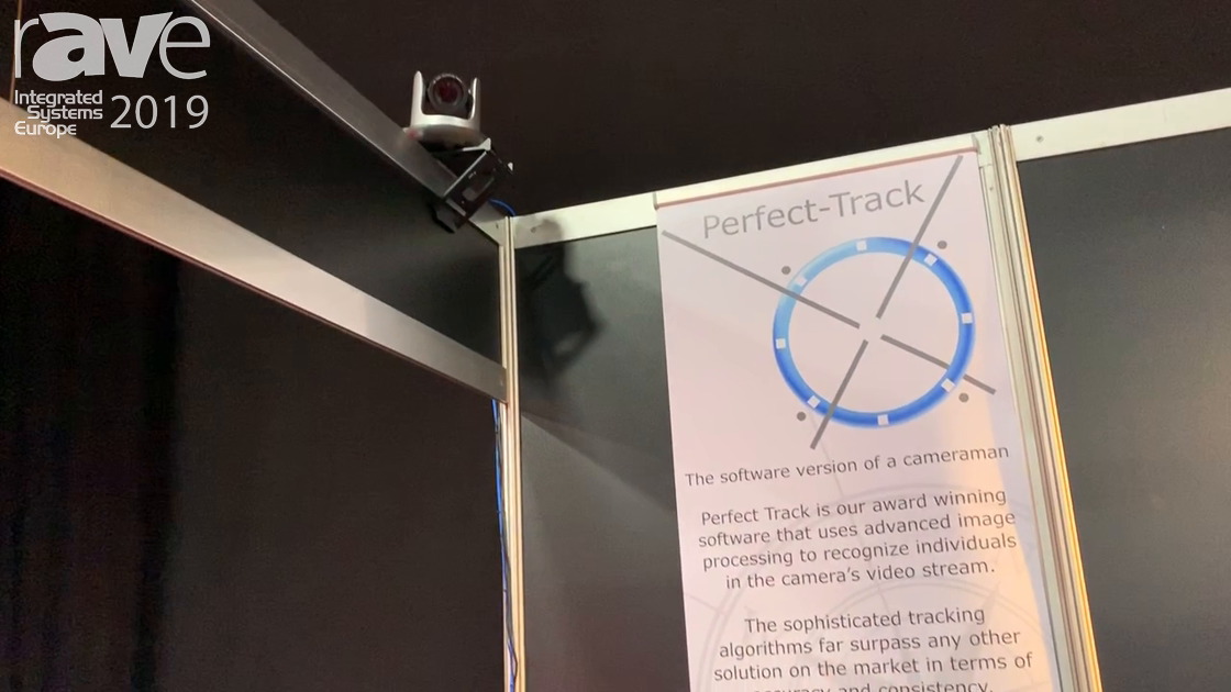 ISE 2019: VDO360 Introduces Perfect-Track PTZ Camera, Which Tracks Presenters for Educational Use