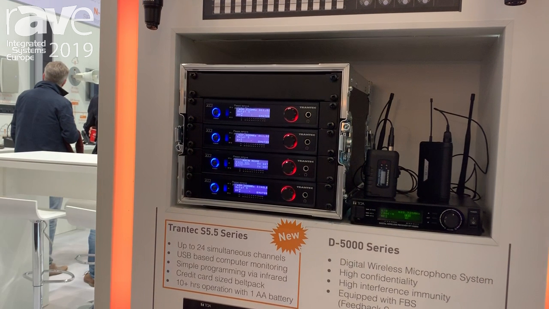 ISE 2019: TOA Electronics' Transtec S5.5 Multi-Channel Radio Has Removeable Head on Handheld Mic