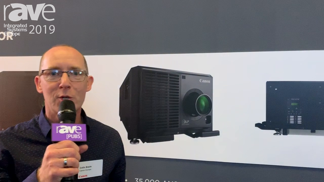 ISE 2019: Canon Shows Off LX-4K3500Z 3-Chip DLP Laser Projector