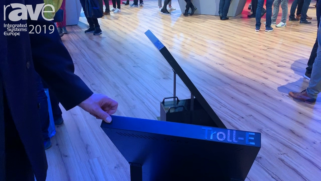 ISE 2019: LANG AG Demos Troll-E Wireless, Rolling, Battery-Powered Digital Signage Display