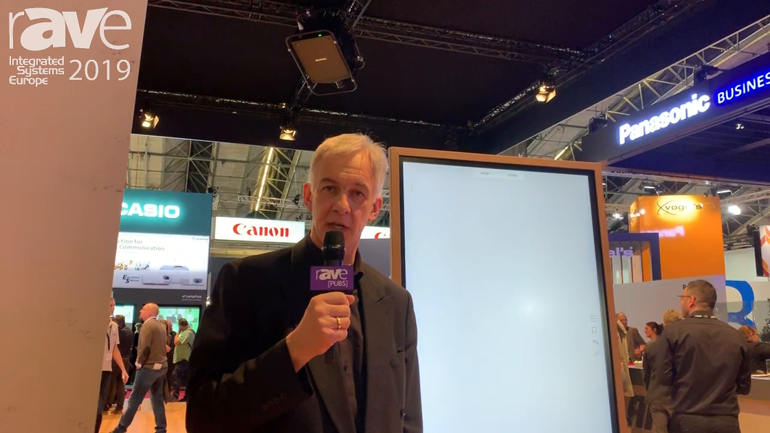 ISE 2019: LANG AG Showcases Flip UP-E Electronic Flip Chart