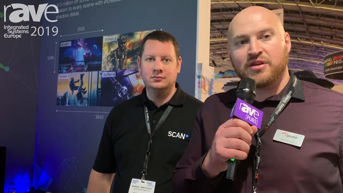 ISE 2019: Optoma and Scan Pro Gaming Demo Setup With 4K 550ST Projector