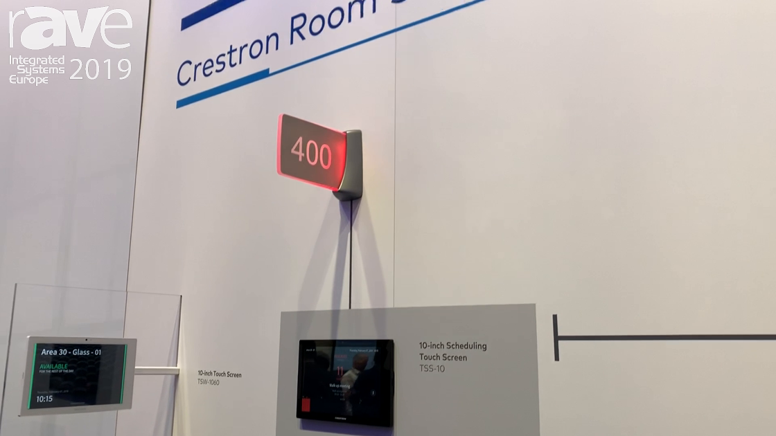 ISE 2019: Crestron Features Room Scheduling Solutions