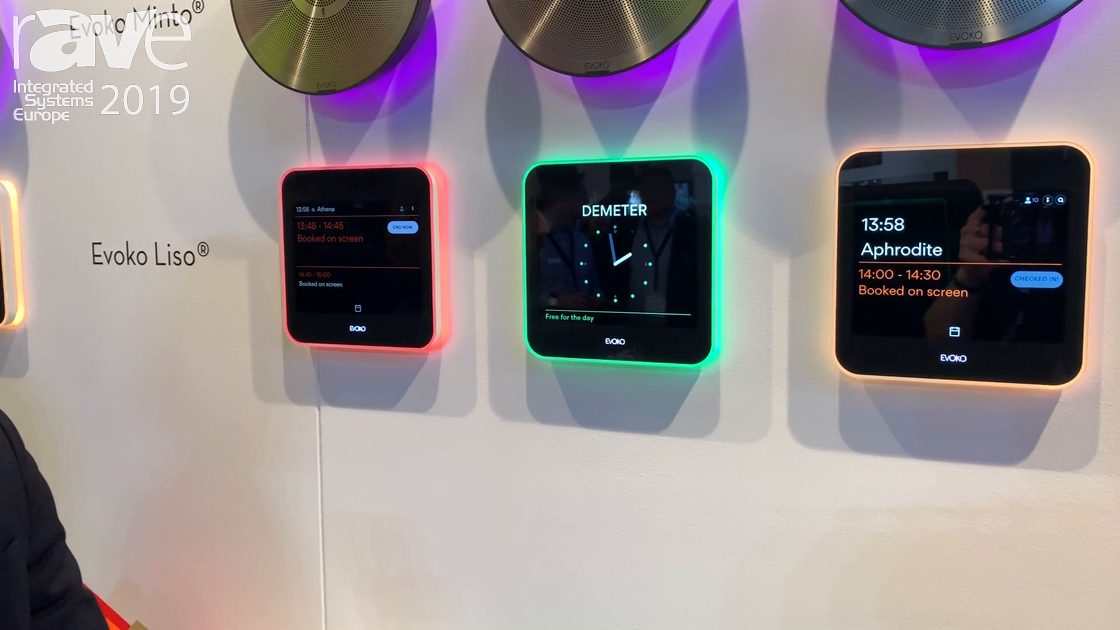 ISE 2019: Evoko Showcases Its Next Generation Liso Room Manager
