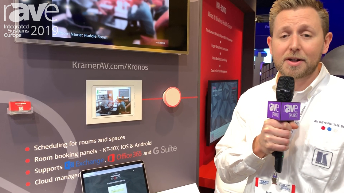 ISE 2019: Kramer Showcases the Kronos Enterprise Room Booking Solution