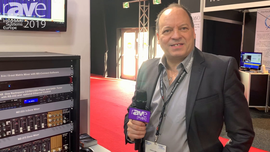 ISE 2019: Tascam Intros MX-8A Eight-Channel Matrix Mixer with DSP Processor