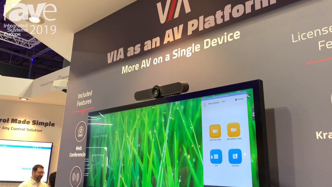 ISE 2019: Kramer Talks About VIA as an AV Platform
