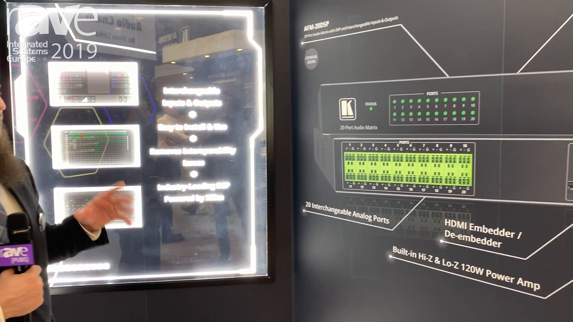 ISE 2019: Kramer Features Its AFM-20DSP Audio Mixer