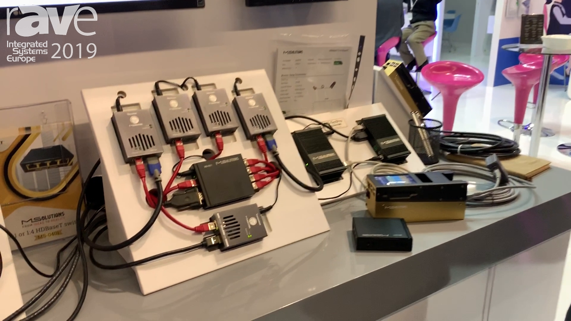 ISE 2019: MSolutions Showcases the MS-0401 HDBaseT Switch Module
