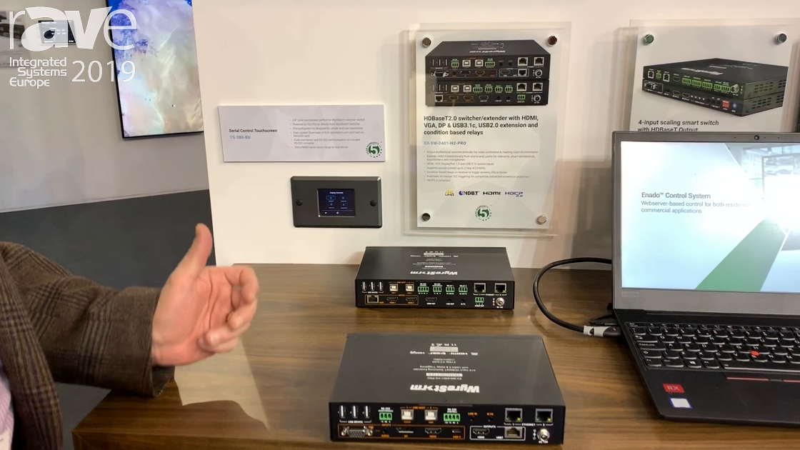 ISE 2019: Wyrestorm Showcases the EX-SW-0401-H2-PRO Presentation Solutions
