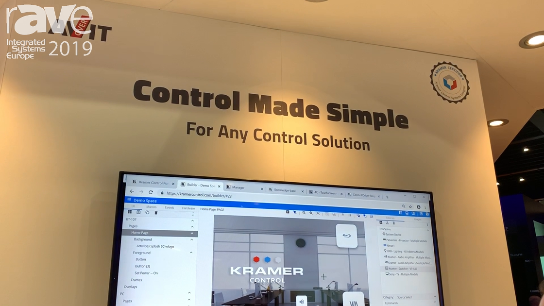 ISE 2019: Kramer Demos Kramer Control Cloud–Based Control and Automation Platform