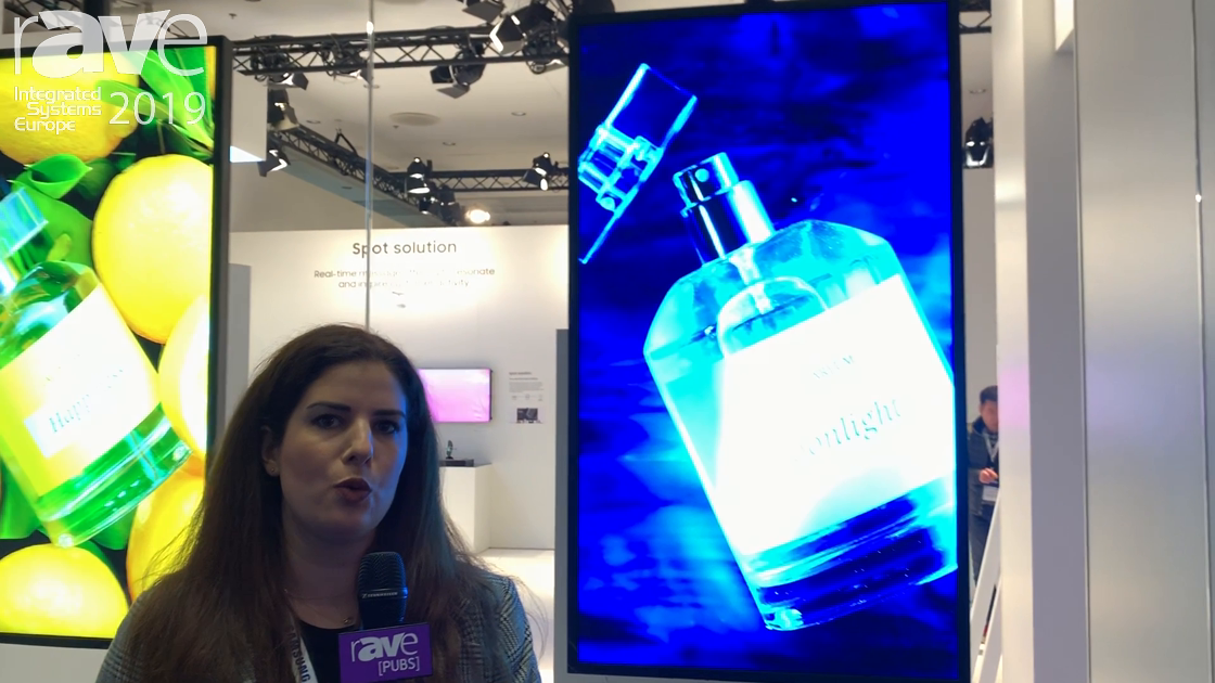 ISE 2019: SAMSUNG Demos Its Semi-Outdoor One- and Dual-Sided Screens for Retail Applications