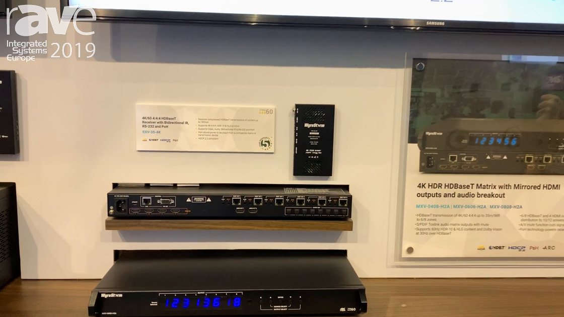 ISE 2019: Wyrestorm Features Its RXV Matrix Switcher Series