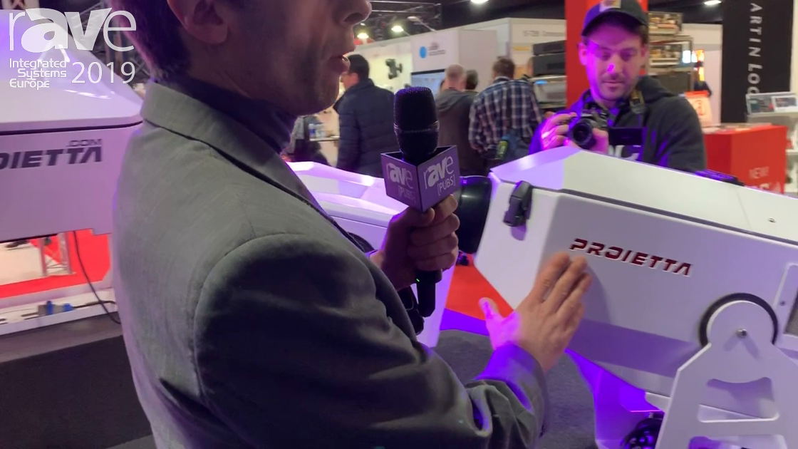 ISE 2019: Proietta Demos Indoor/Outdoor Gobo Projectors