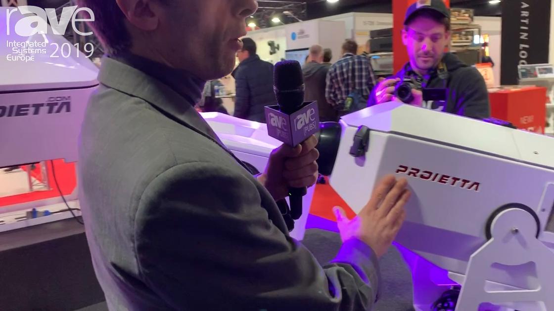 ISE 2019: Proietta Demos Indoor/Outdoor Gobo Projectors