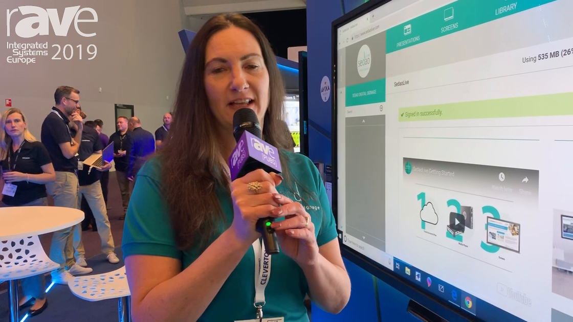 ISE 2019: Sedao Demos Live Cloud Solution for Digital Signage