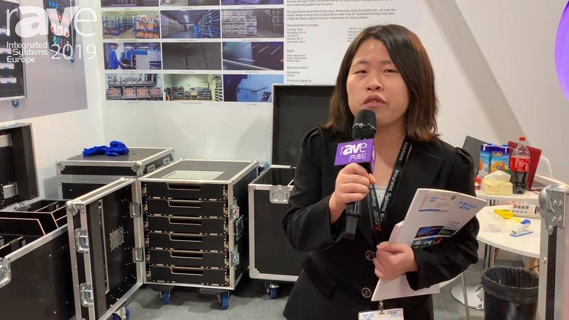 ISE 2019: Shenzhen T-Brisun Case Co. Debuts Display Case With Motorized Display Lift