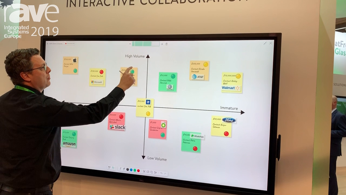 ISE 2019: FlatFrog Showcases Dell Interactive Collaboration Display With In-Glass Touch Technology