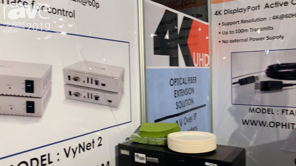 ISE 2019: Ophit Introduces the VyNet 2 4K Video-over-IP Network Solution