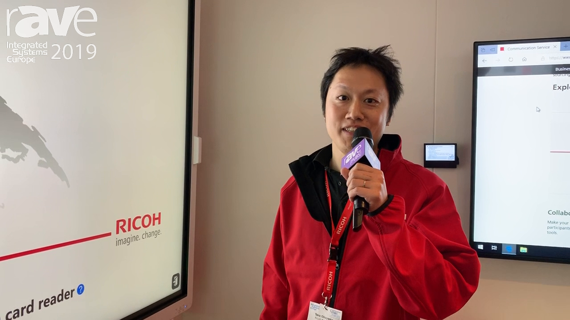 ISE 2019: Ricoh Demos 86″ Interactive Whiteboard with Office 365 Meeting Assistant