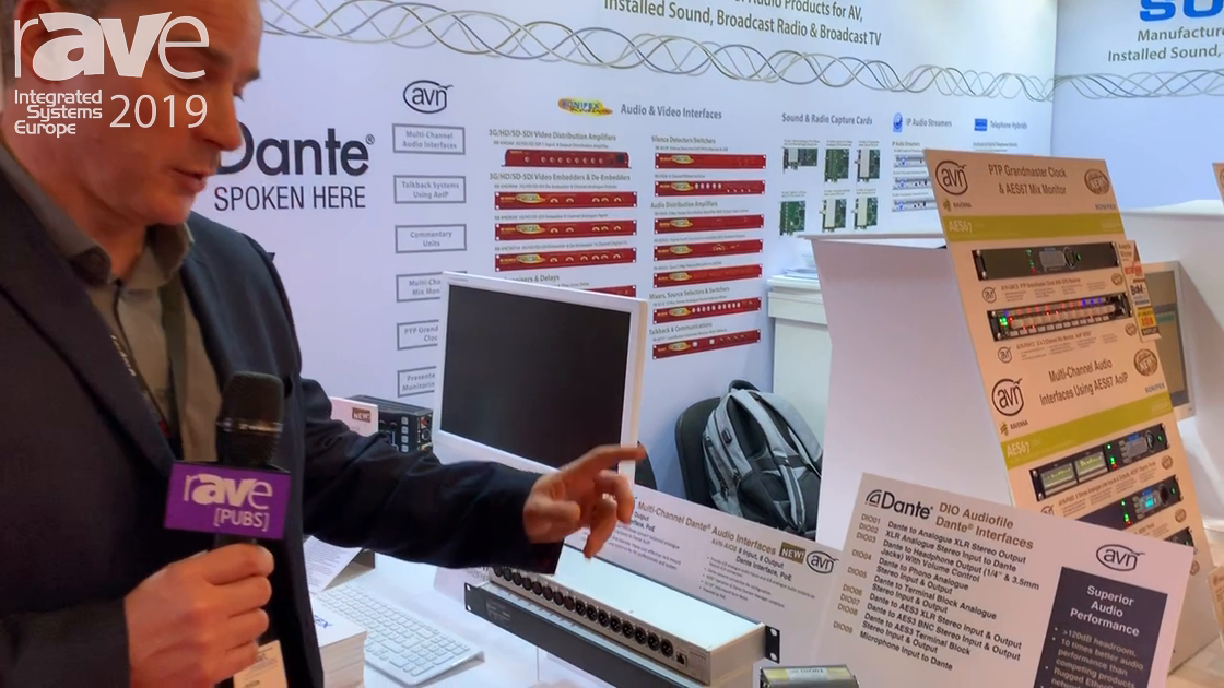 ISE 2019: Sonifex Gives an Overview of Its AVN Dante Audio Interfaces