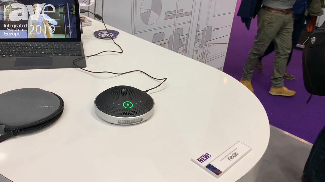 ISE 2019: Yamaha Shows Its YVC-200 Portable USB Bluetooth NFC Solution