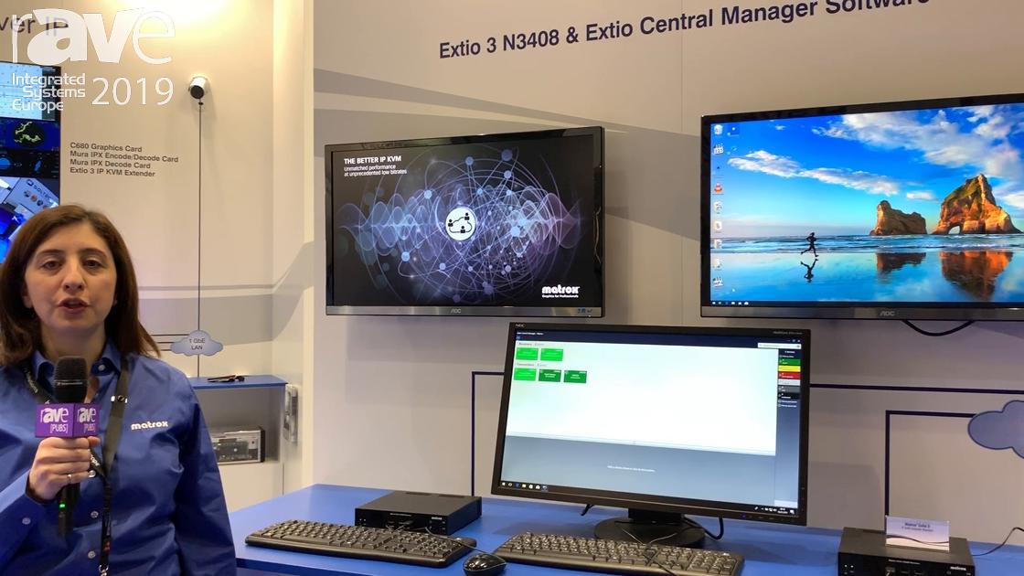 ISE 2019: Matrox Showcases the Extio 3 KVM Extender