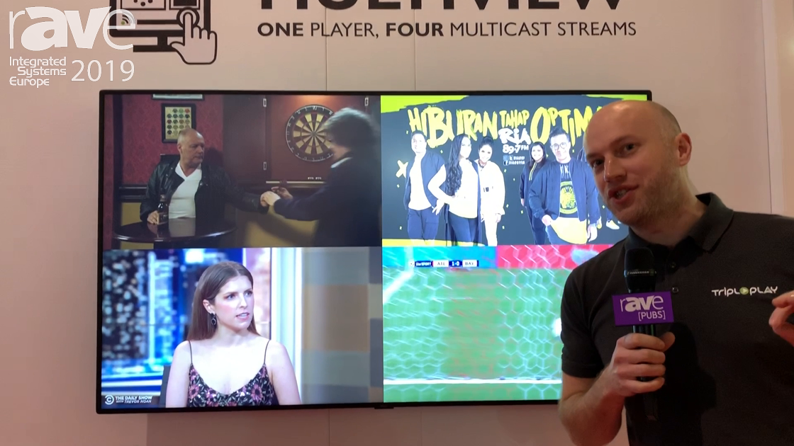 ISE 2019: TriplePlay Showcases Its Multiview Feature for TripleSign Digital Signage Platform