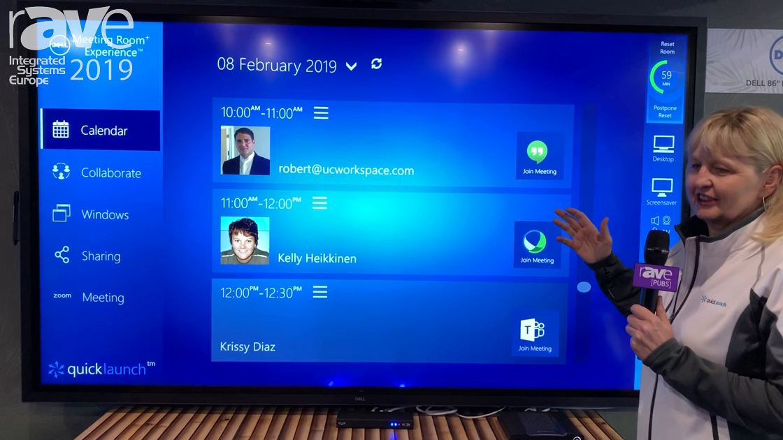 ISE 2019: UC Workspace Demos Quicklaunch Version 4 with Dell from TechData Meeting Room Experienc