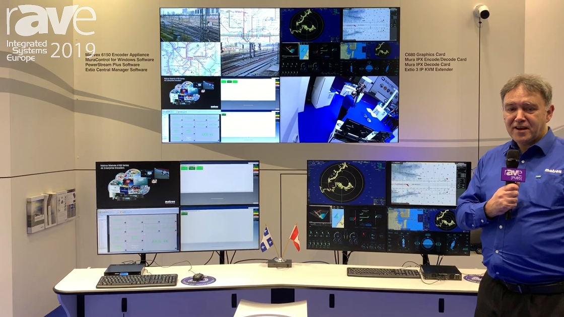 ISE 2019: Matrox Features Its Control Room Collaboration Over IP Ecosystem
