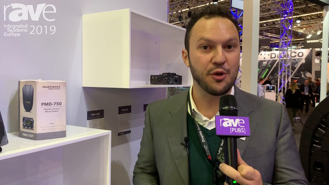 ISE 2019: Marantz Professional Features Its PMD-750 Wireless Camera Mount System