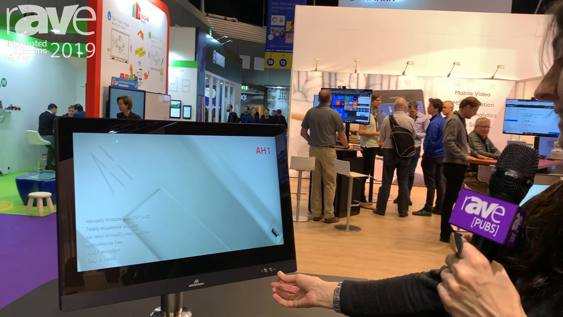 ISE 2019: Arthur Holm Demos a Motorized Dynamic Reception Monitor for Guest Check-In, Greeting Desks