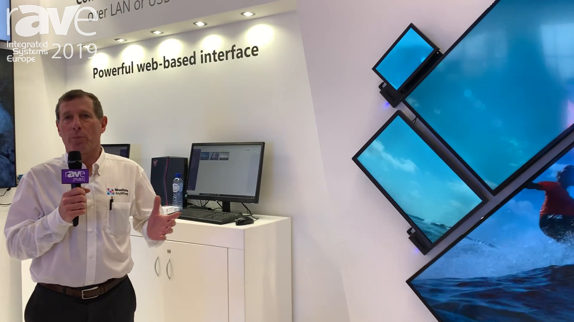 ISE 2019: Monitors AnyWhere Previews USB Wall Video Wall System in Creative Application