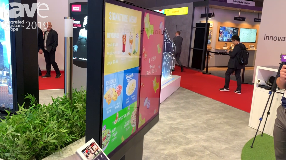 ISE 2019: Peerless-AV Presents KOF546-2OHF Outdoor Digital Menu Board