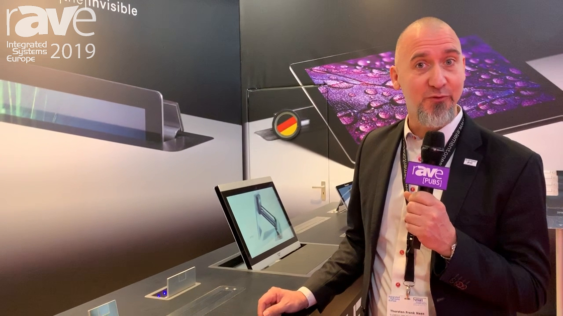 ISE 2019: Element One Demos Motorized Tabletop Monitors