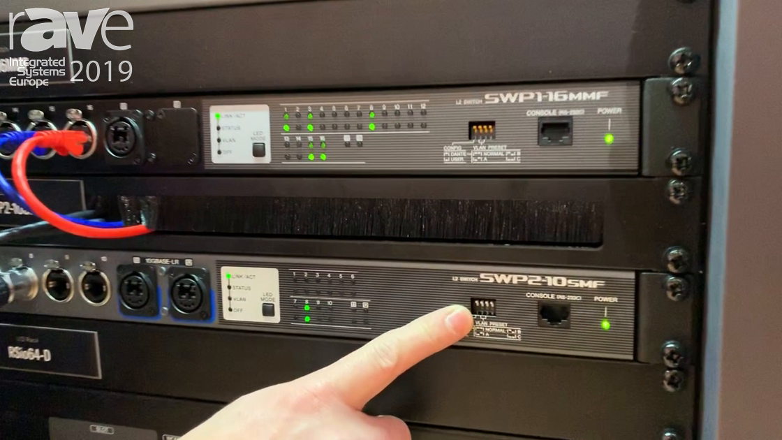 ISE 2019: Yamaha Features Its New SWP2-10 SMF Network Switch With Two 10Gig Fiber Optic Ports